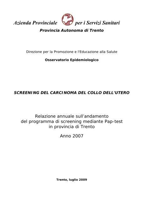 codice icd 10 per lo screening del carcinoma prostatico