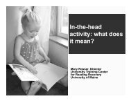 In-the-head activity: what does it mean?