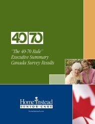 """""""The 40-70 Rule"""" Executive Summary Canada Survey Results"""
