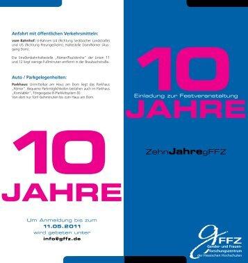 JAHRE JAHRE - gFFZ