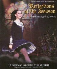 Concert Program - BYU International Folk Dance Alumni
