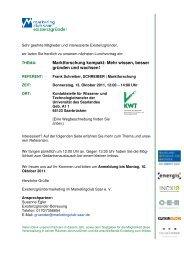Einladung Lunchvortrag Oktober - Marketingclub Saar