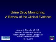 Urine Drug Monitoring - Tufts Health Care Institute
