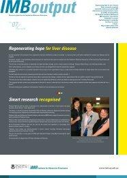 Regenerating hope for liver disease Smart research recognised