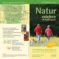 THEMENANGEBOTE - Naturpark Augsburg Westliche Wälder e.V.