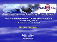 Презентация Компании Excel Csepel Machine Tools Ltd ...