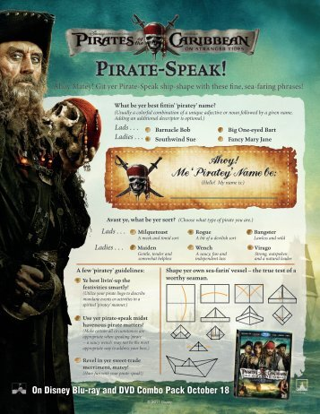 Ahoy! Me 'Piratey'Name be: - Disney Movie Rewards