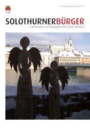 UB SoB 2011-4 Homepage - Bürgergemeinde Stadt Solothurn