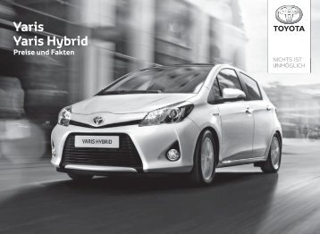 Preisliste und Ausstattungsübersicht - Zu Toyota Bach