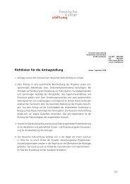 Richtlinien für die Antragstellung - Hessische Kulturstiftung