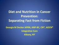 Diet and Nutrition in Cancer Prevention - Breast Cancer Options