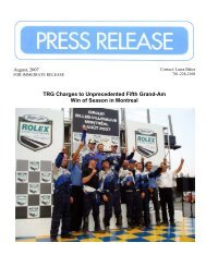 TRG Charges to Unprecedented Fifth Grand-Am Win of Season in ...
