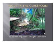 Trout in the Classroom - Division of Fish and Wildlife