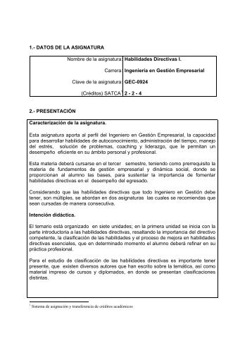 Habilidades Directivas I - Instituto Tecnologico de Torreón
