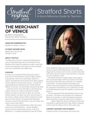 merchant of venice tragicomedy Teaching the merchant of venice and othello too often, students are lectured on the greatest playwright of all time without really being taught what shakespeare has to offer.