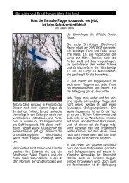 Berichte und Erzählungen über Finnland Dass die finnische Flagge ...
