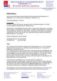 protokoll - Hrvatska kulturna zajednica Wiesbaden