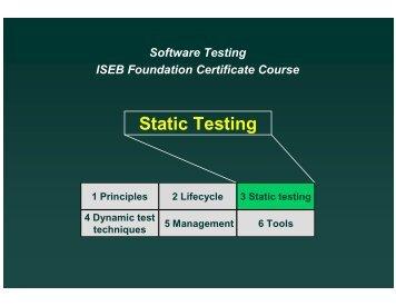 Static Testing