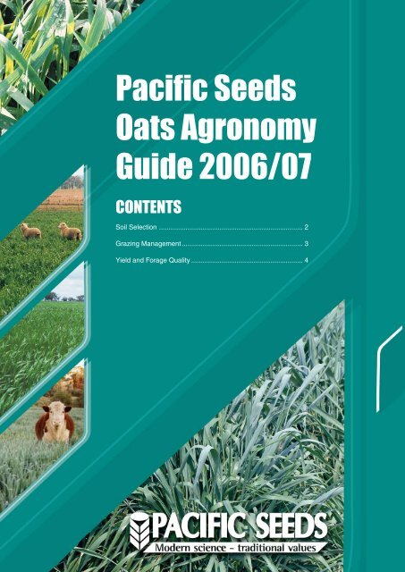 Pacific Seeds Oats Agronomy Guide 2006/07 - Direct Router