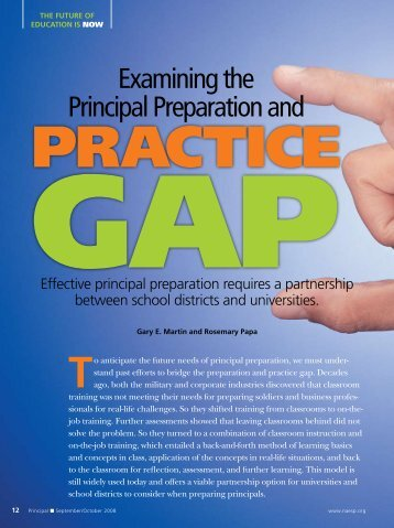 Examining the Principal Preparation and Practice Gap - National ...