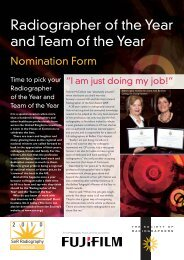 Radiographer of the Year and Team of the Year - Society of ...