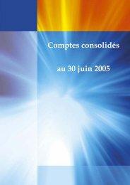 Comptes consolidés au 30 juin 2005 - Maroc Telecom