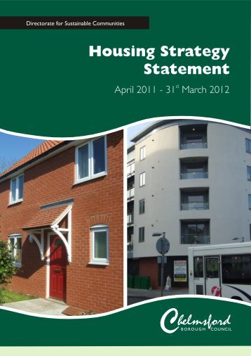 Housing Strategy Statement 2011 - Chelmsford Borough Council