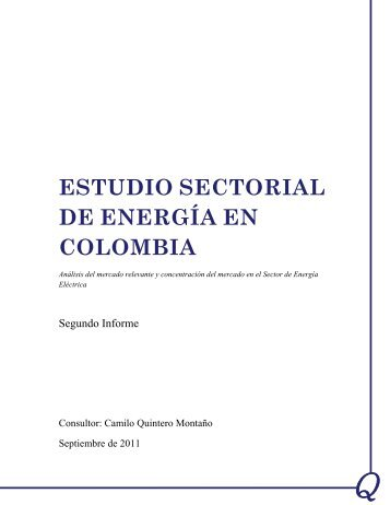 ESTUDIO SECTORIAL DE ENERGÍA EN COLOMBIA - Unctad XI