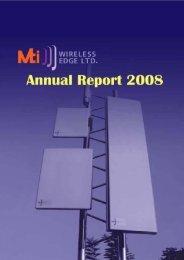 Annual Report 2008 - MTI Wireless Edge Ltd.