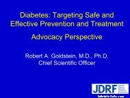 Juvenile Diabetes Research Foundation ... - NIDDK Archives