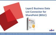Layer2 Business Data List Connector for SharePoint - Layer 2 GmbH