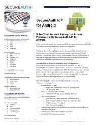 SecureAuth IdP for Android