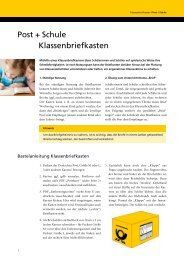 Post + Schule Klassenbriefkasten