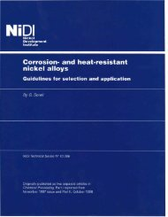 Corrosion-resistant nickel alloys - Nickel Institute