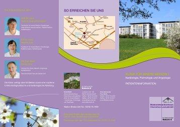 Klinik für Innere Medizin I - Diakoniekrankenhaus Chemnitzer Land