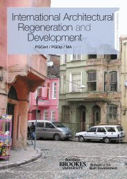 International Architectural Regeneration and ... - Study in the UK