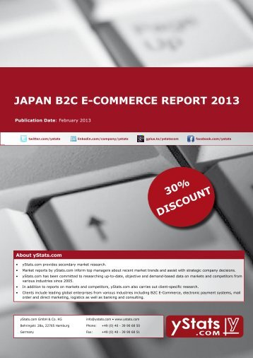 Samples Japan B2C E-Commerce Report 2013 - yStats.com