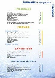 dates & tarifs - Centre Inffo