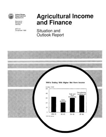 Agricultural Income and Finance - USDA Economics and Statistics ...