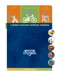 a global consumer products company - Dorel Industries