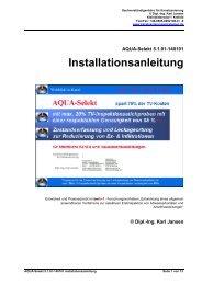 AQUA-Selekt 5.0.00-130601 Installationsanleitung - Ing. Karl Jansen
