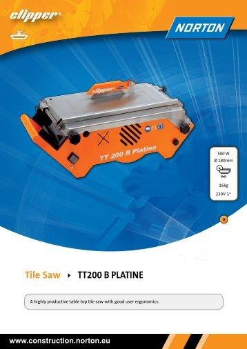 Tile Saw TT200 B PlaTine - Norton Construction Products