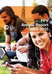 FPV Annual Report 2009-2010 - Family Planning Victoria