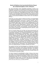 Hartz IV Reform - Welt der Arbeit