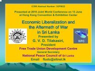 Economic Liberalization and the Aftermath of War in Sri Lanka ...