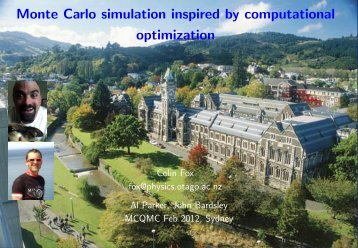Monte Carlo simulation inspired by computational ... - mcqmc 2012
