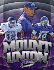 2010 Mount Union Football Guide - University of Mount Union