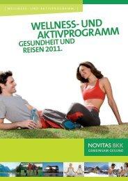 Wellness- und AktivprogrAmm - gesundheit und reisen