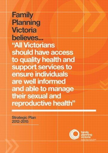 Strategic Plan 2012-15 - Family Planning Victoria