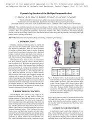 Dynamic leg function of the BioBiped humanoid robot